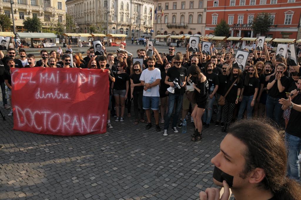studenti protest legea educatiei 3 cluj