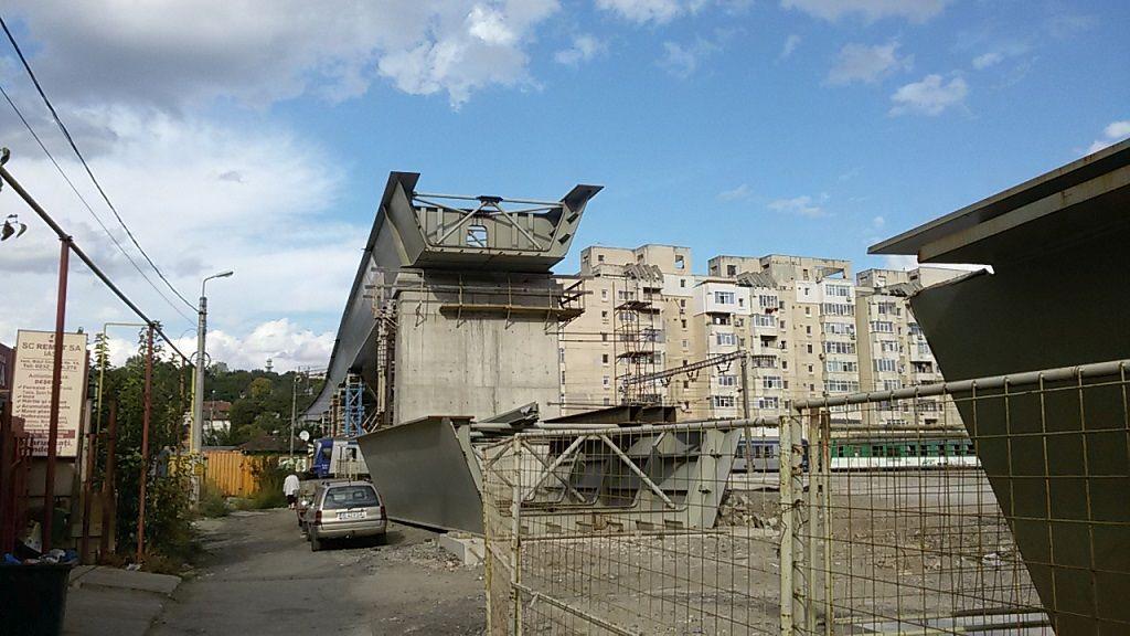 Pasajul vazut dinspre cartierul Alexandru cel Bun